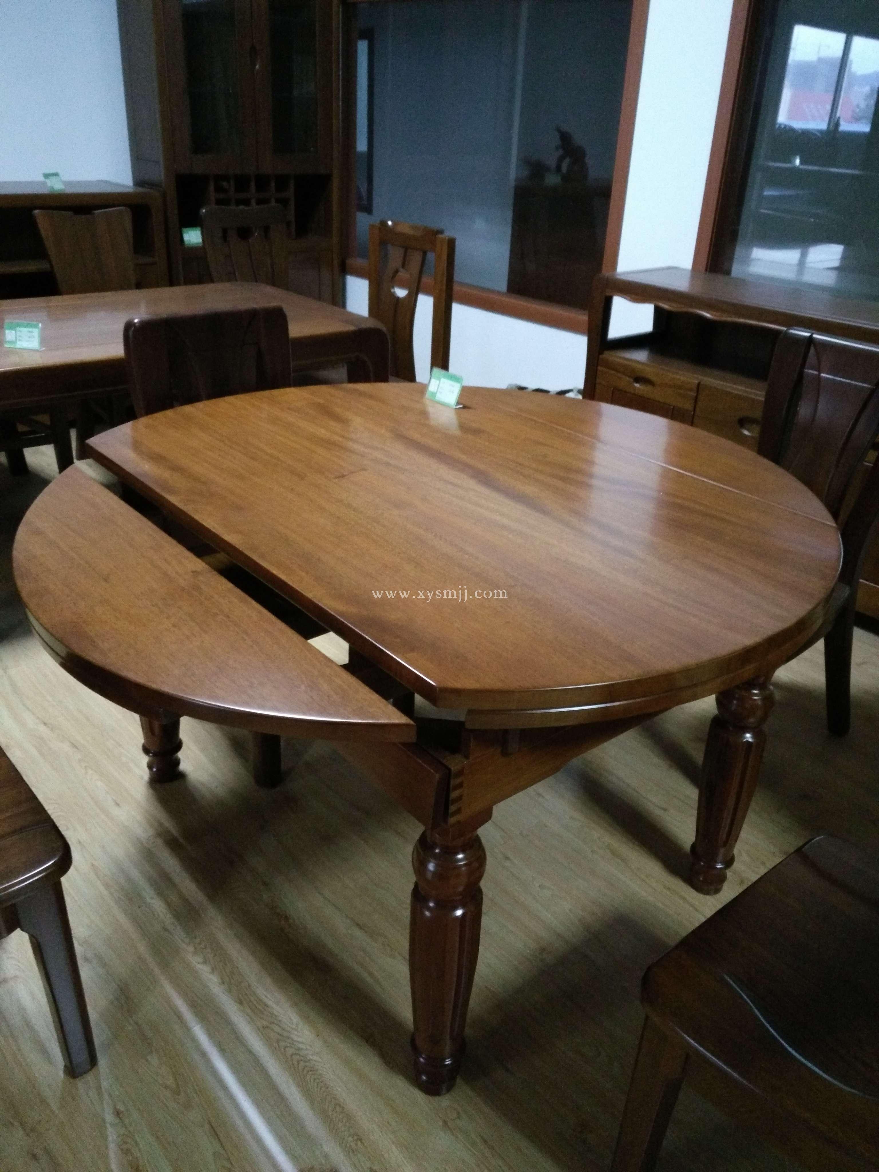 胡桃木跳台餐桌 - 青岛轩雅家具有限公司-实木家具